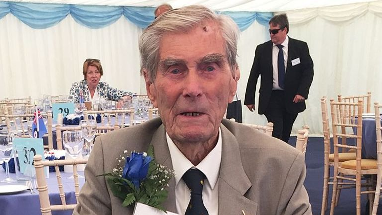 File photo dated 1/7/2018 of Battle of Britain veteran Wing Commander Paul Farnes, who has died aged 101.