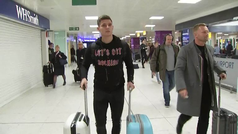 Poland U21 international striker Patryk Klimala touched down at Glasgow Airport on Sunday