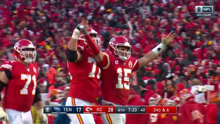 Tennessee Titans 24-35 Jefes de Kansas City: Patrick Mahomes brilla cuando los Jefes llegan al Super Bowl   Noticias de la NFL 13