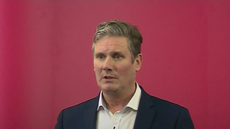 Keir Starmer launched his leadership bid in Manchester