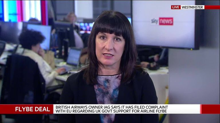 Rachel Reeves MP, former chair of the business select committee, speaks to Sky's Ian King