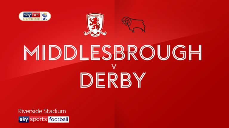 Highlights of the Sky Bet Championship match between Middlesbrough and Derby