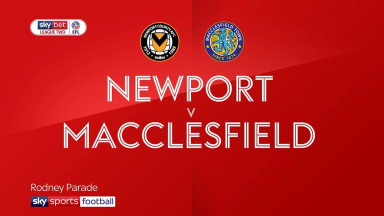 Informe del partido - Newport 1 - 0 Macc'field 2
