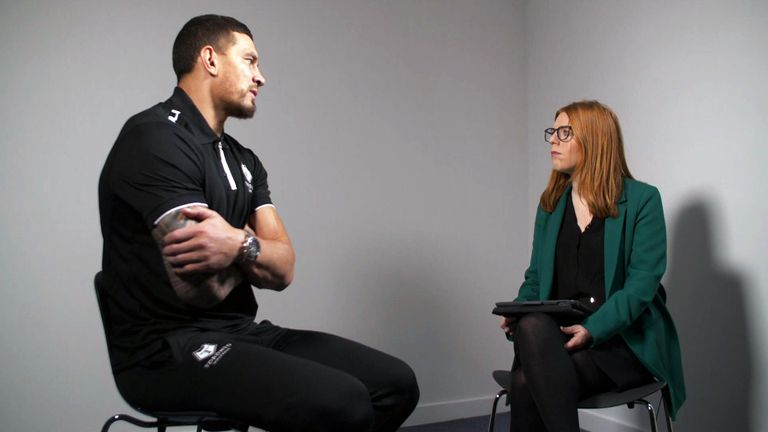 Sonny Bill Williams spoke exclusively to Sky News about  his condemnation of China's treatment of its minority Muslim Uighur population.