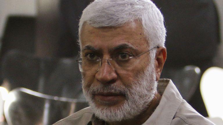Abu Mahdi al Muhandis pictured in 2015