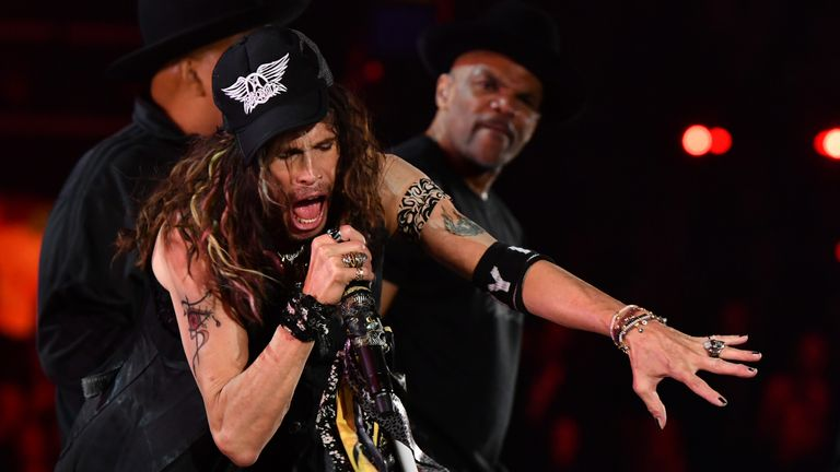 Aerosmith and Run DMC reunited to perform Walk This Way at the Grammys 2020