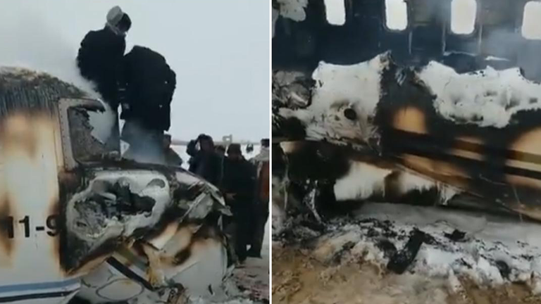 There were believed to be less than 10 people on the plane when it crashed, US officials said. Pic: Tariq Ghazniwal