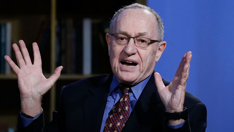 Alan Dershowitz has different political views to the president he is defending
