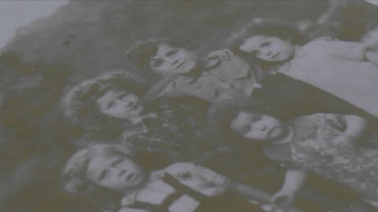 Albert Reiss (bottom left) aged 3, along with four young cousins who were all killed by the Nazis
