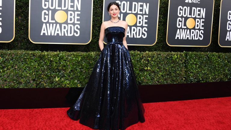 Ana de Armas at the Golden Globes 2020