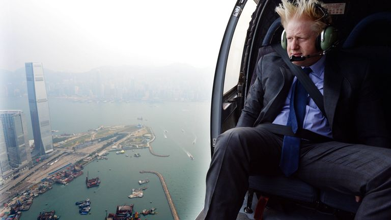 Mr Parsons photographed Mr Johnson in Hong Kong during a visit as London mayor Pic: Andrew Parsons / i-Images