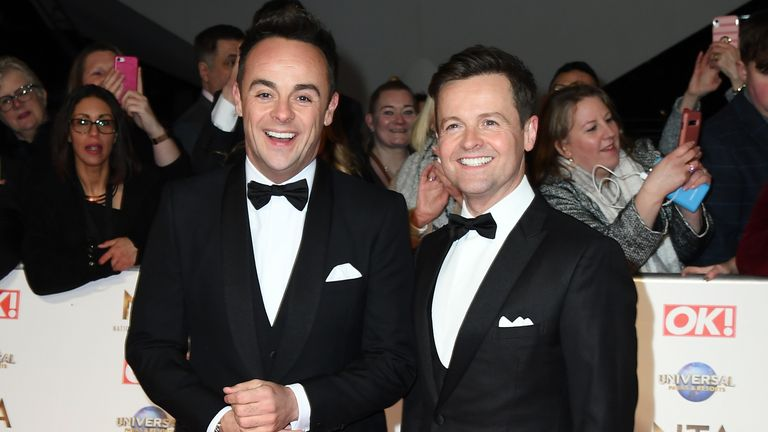 Ant and Dec on the red carpet at the National Television Awards 2020