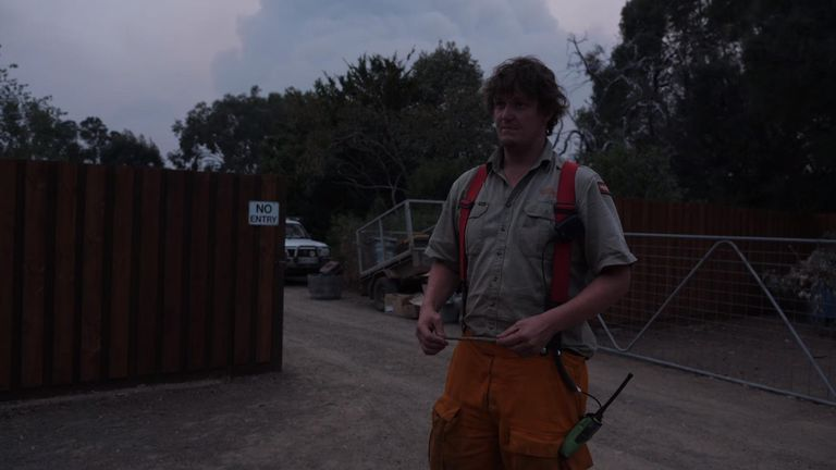 Firefighter Billy Dunlop, who is also the park's manager, warned the team to evacuate