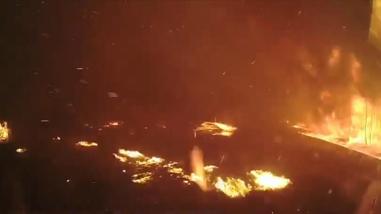 Firefighters in New South Wales have released footage to demonstrate how fast bushfires can spread.