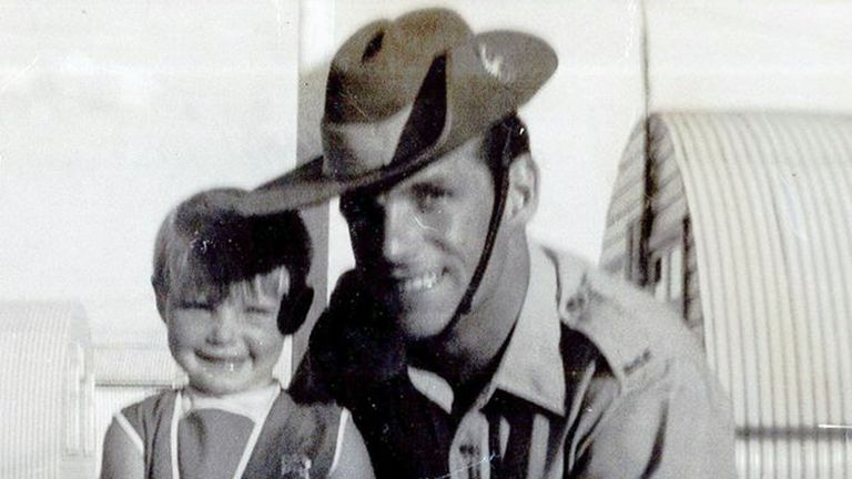 Cheryl pictured with her father John. Pic: New South Wales Police