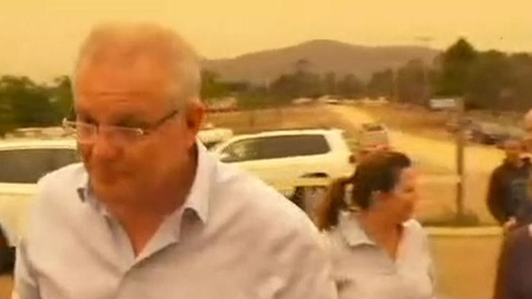 Australian Prime Minister Scott Morrison was confronted by angry residents on Thursday as he toured the town of Cobargo in New South Wales.