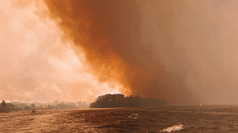 Sustained relief from Australia's deadly bushfires seems beyond he horizon. Pic: Emily Trevenen