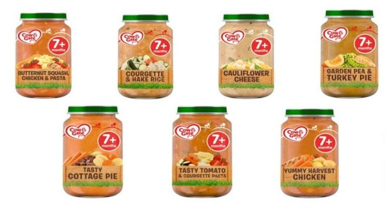 Cow & Gate baby food jars sold by Tesco recalled as 'small number may have been tampered with'. Pic: Food Standards Agency