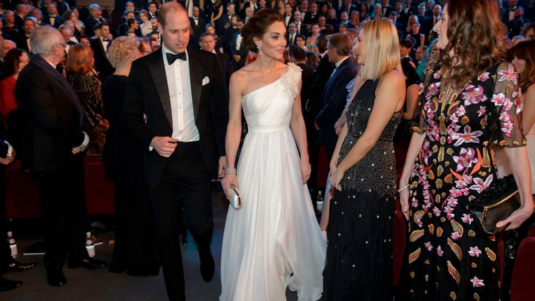 William and Kate at the BAFTAs in 2019