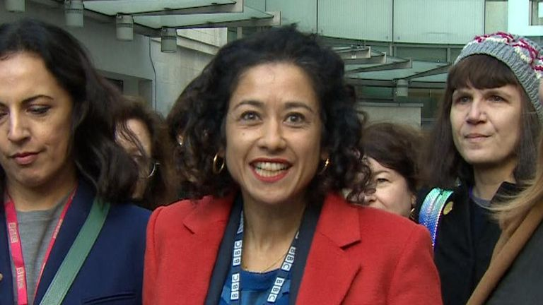 The BBC presenter Samira Ahmed has won a sex discrimination equal pay claim against the company.