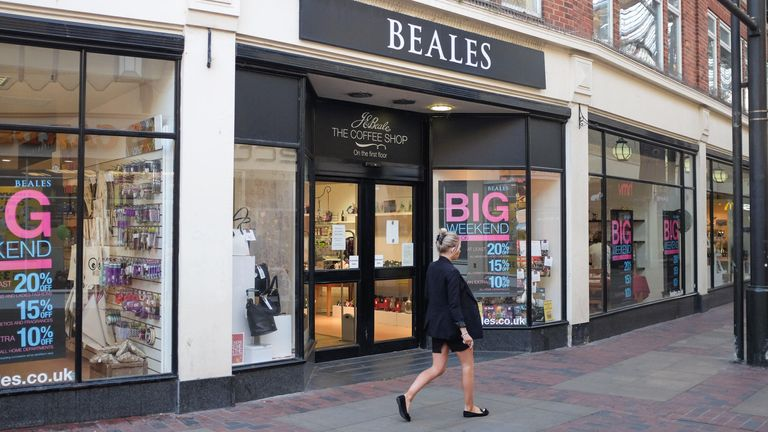 Beales has been seeking to negotiate rent reductions with some of the owners of its 22 stores