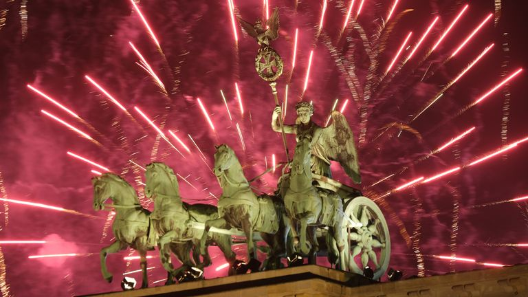 There were plenty of fireworks in Berlin - but this wasn't the case in some German cities