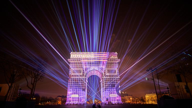 Parisians fought their way into the city centre to enjoy the New Year fireworks