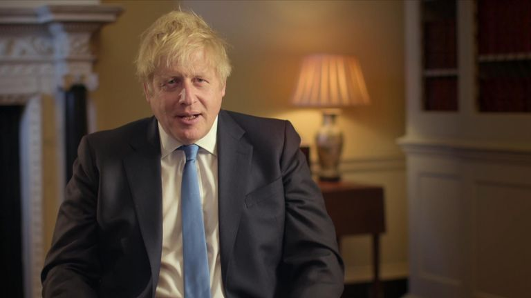 Prime minister Boris Johnson delivers a message ahead of the UK's exit from the EU
