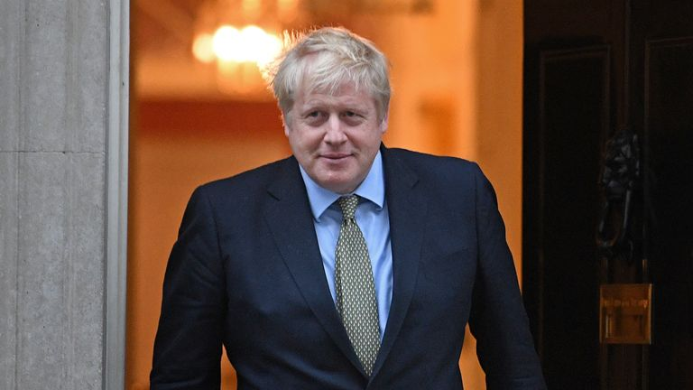 Prime Minister Boris Johnson in Downing Street