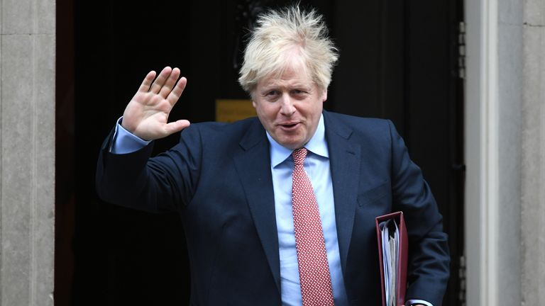 Prime Minister Boris Johnson leaves 10 Downing Street for Prime Minister's Questions