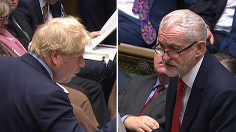 The prime minister clashes with the Labour leader over the NHS during PMQs