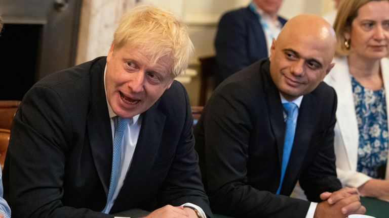 Boris Johnson and Sajid Javid