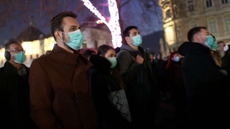 Protesters in Bosnia are demanding climate action