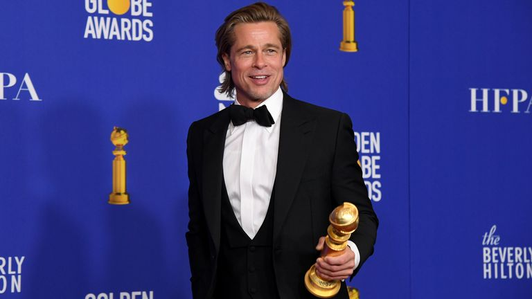 Golden Globes 2020 best supporting actor Brad Pitt