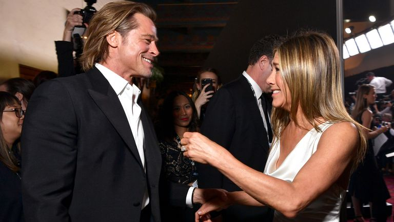 Brad Pitt and Jennifer Aniston attend the 26th Annual Screen Actors..Guild Awards