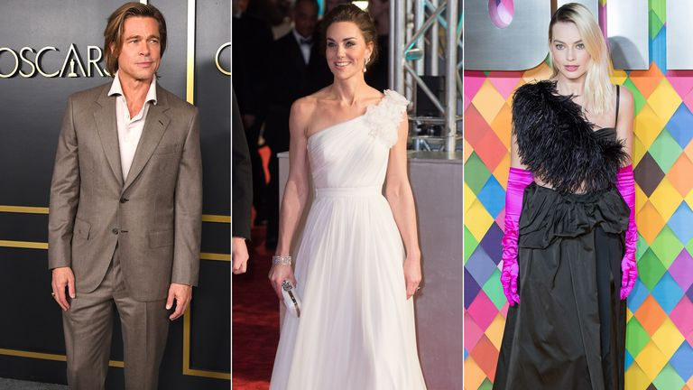Brad Pitt, the Duchess of Cambridge, Margot Robbie