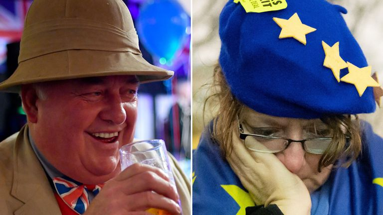 Mixed emotions on Brexit day