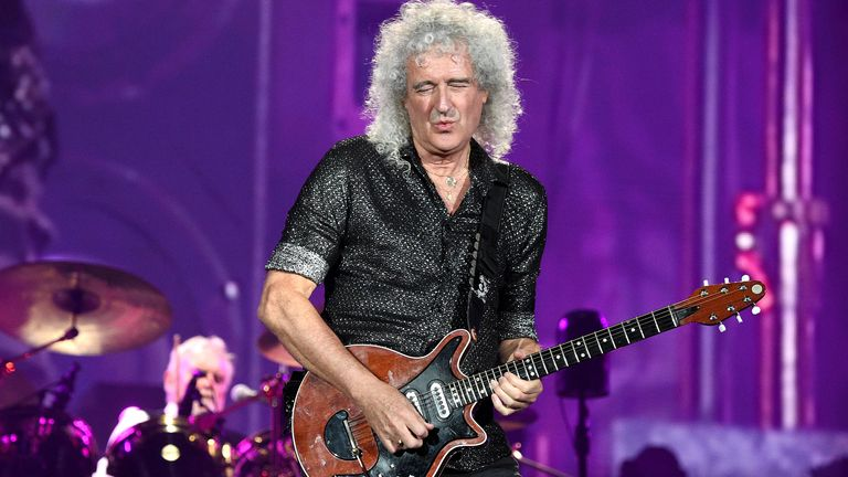 Roger Taylor and Brian May of Queen perform on stage during the 2019 Global Citizen Festival: Power The Movement in Central Park on September 28, 2019 in New York City