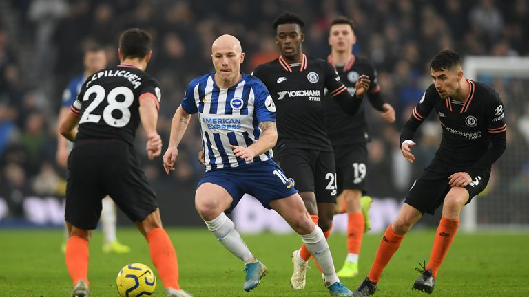 The arrests happened during the Brighton & Hove Albion versus Chelsea game