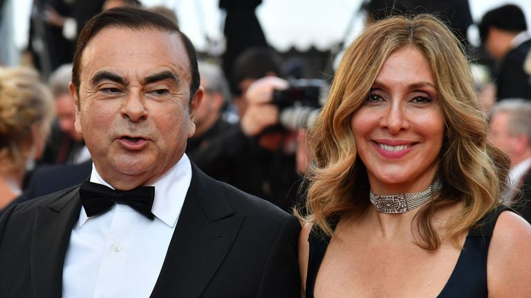 An arrest warrant has been issued for Carlos Ghosn's wife Carole