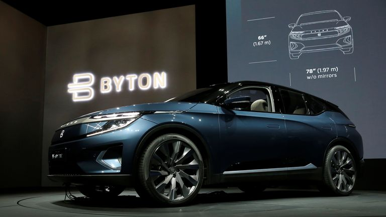 The Byton M-Byte all-electric SUV