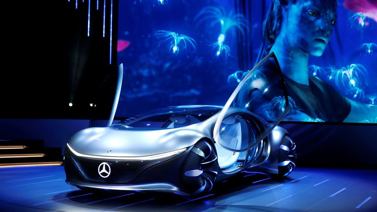The Mercedes-Benz Vision AVTR concept car, inspired by the Avatar film