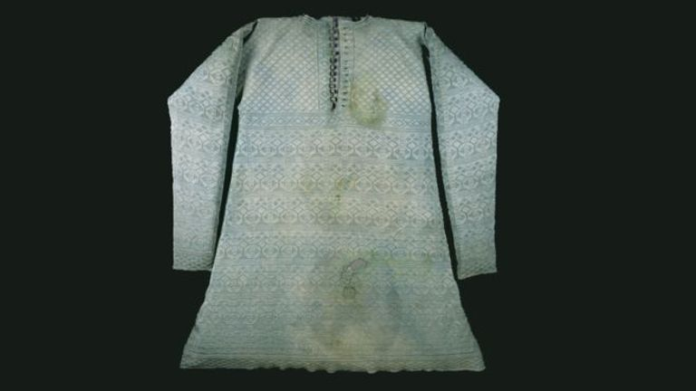Charles I's stained vest is going on display. Pics: Museum of London