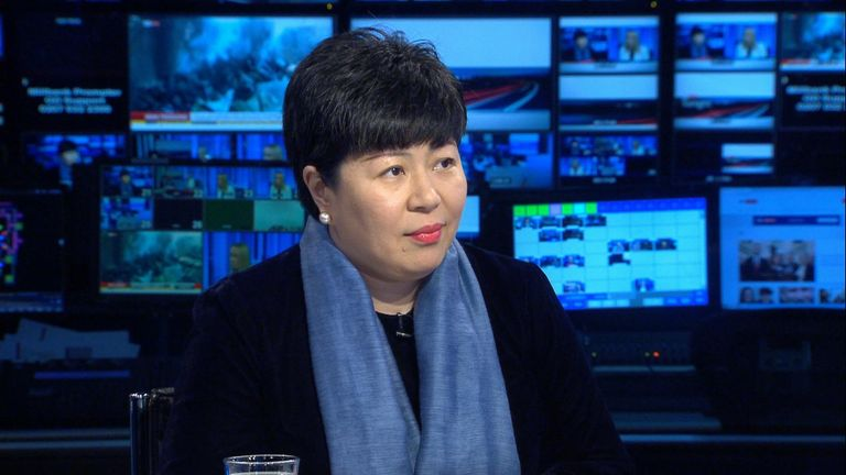 China's charge d'affaires in London Chen Wen has criticised President Trump over his handling of Iran.