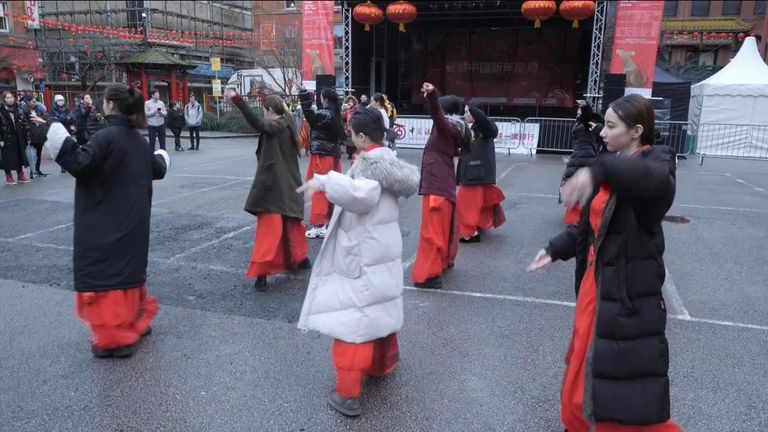 Celebrations for Chinese New Year are muted in Manchester