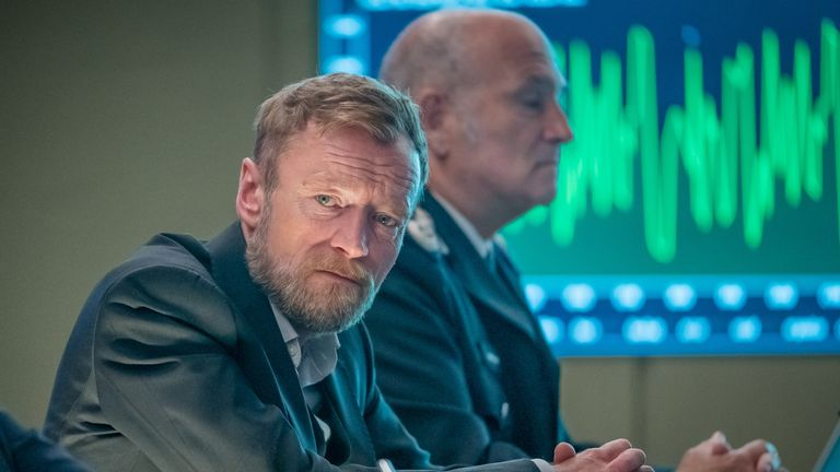 Richard Dormer in Sky One's COBRA. Pic: Sky UK