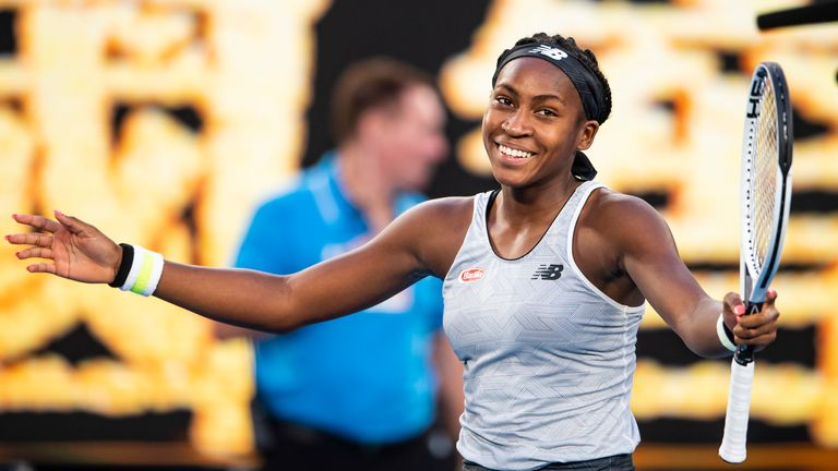 Coco Gauff looked elated after her third round win