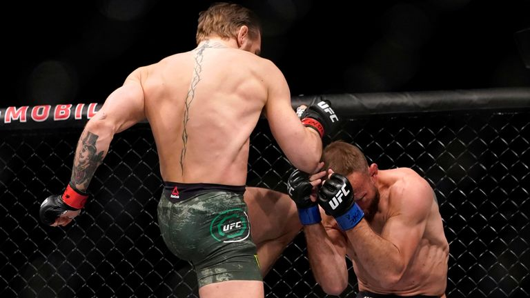Conor McGregor beats Donald Cerrone in just 40 seconds