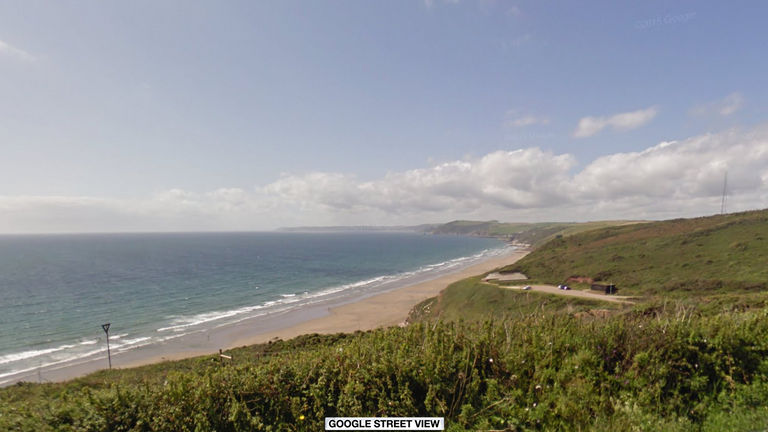 The marine was injured during an exercise on Tregantle beach
