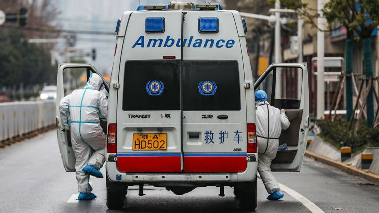 Medical staff in Wuhan